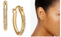 "Charter Club Gold-Tone Pavé Small Hoop Earrings, .63"", Created for Macy's"