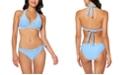 Jessica Simpson Twiggy Stripe Textured Halter Bikini Top & Hipster Bottoms