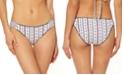Jessica Simpson Moroccan Stripe Printed Shirred Hipster Bikini Bottoms