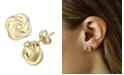 Macy's Love Knot Stud Earrings Set in 14k Gold (8mm)