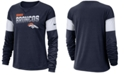 Nike Women's Denver Broncos Breathe Long Sleeve Top