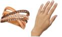 Le Vian Creme Brulee® Diamond Crisscross Ring (1-1/6 ct. t.w.) in 14k Rose Gold