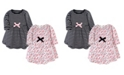 Touched by Nature Toddler Girl Long Sleeve Organic Dress 2 Pack