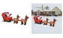 National Tree Company 12.5 ft. Inflatable Santa in Sleigh with Reindeer