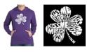 LA Pop Art Women's Word Art Hooded Sweatshirt -Kiss Me I'M Irish