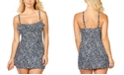 Island Escape Animal Kingdom Siesta Ruffled Printed Swimdress, Created for Macy's