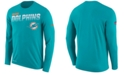 Nike Men's Miami Dolphins Sideline Legend Line of Scrimmage Long Sleeve T-Shirt