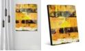 "Creative Gallery Shikoku in Yellow Abstract 20"" x 24"" Acrylic Wall Art Print"