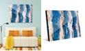 "Creative Gallery Zimba on Blue Abstract 20"" x 24"" Acrylic Wall Art Print"