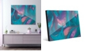 """Creative Gallery Tumba Part Two in Cyan Pink Abstract 24"""" x 36"""" Acrylic Wall Art Print"""