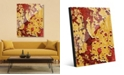 """Creative Gallery Flaking Wall Caution in Yellow Red Abstract 20"""" x 24"""" Acrylic Wall Art Print"""
