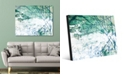 """Creative Gallery Green Lined Wall with White Abstract 16"""" x 20"""" Acrylic Wall Art Print"""