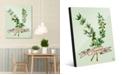 "Creative Gallery Watercolor Thyme on Green 24"" x 36"" Acrylic Wall Art Print"