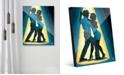 "Creative Gallery Spotlight Couple Dancing in Blue 24"" x 36"" Acrylic Wall Art Print"