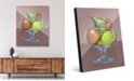 "Creative Gallery Fruit Still Life on Brown Illustration 16"" x 20"" Acrylic Wall Art Print"