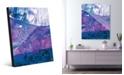 "Creative Gallery Casablanca in Blue Abstract 20"" x 24"" Acrylic Wall Art Print"