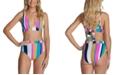 Raisins Juniors' Bikini Top & High-Waist Bottoms