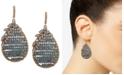 lonna & lilly Gold-Tone Floral & Beaded Teardrop Earrings