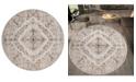 "Asbury Looms Century Aurinda 4500 10726 88R Beige 7'10"" Round Rug"