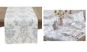 Saro Lifestyle Floral Story Linen Table Runner