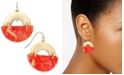 Alfani Gold-Tone & Marble-Look Drop Earrings, Created for Macy's