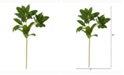 Nearly Natural 23in. Laurel Leaf Artificial Spray Set of 6