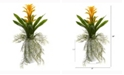 Nearly Natural 18in. Bromeliad Artificial Plant in White Planter