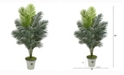 Nearly Natural 65in. Paradise Palm Artificial Plant in Decorative Planter