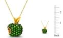 Macy's Tsavorite (1-3/8  ct. t.w.) and Yellow Sapphire (1/10  ct. t.w.) Apple Pendant in 14K Gold