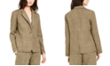 Eileen Fisher Organic Linen Notch Collar Shaped Blazer, Regular & Petite Sizes