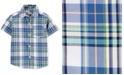 Carter's Toddler Boys Plaid Cotton Shirt