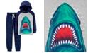 Carter's Little & Big Boys 2-Pc. Cotton Shark-Print Hooded T-Shirt & Printed Jogger Pants Set
