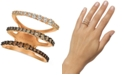 Le Vian Ombré Chocolate Diamond Three Band Statement Ring (1-1/2 ct. t.w.) in 14k Rose Gold