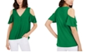 INC International Concepts INC Petite Surplice Cold-Shoulder Top, Created For Macy's