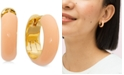 "kate spade new york Gold-Tone Small Colored Huggie Hoop Earrings, 0.84"""