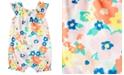 Carter's Baby Girls Floral-Print Cotton Bubble Romper