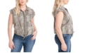 Jessica Simpson Trendy Plus Size Robyn Printed Button-Front Top