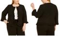 Kasper Plus Size Ruffled Jacket