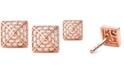 Michael Kors Cubic Zirconia Square Stud Earrings
