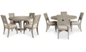 Furniture Modern Coastal Dining Furniture, 5-Pc Set (Table & 4 Side Chairs)