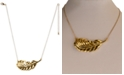 "Charter Club Gold-Tone Horizontal Leaf Collar Necklace, 19-1/2"" + 3"" extender, Created for Macy's"