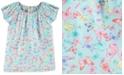 Carter's Little & Big Girls Butterfly-Print Poplin Top