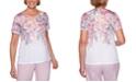 Alfred Dunner Primrose Garden Floral-Print Scalloped Knit Top