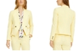 Bar III Collarless Faux-Double-Breasted Jacket, Created for Macy's