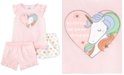 Carter's Little & Big Girls 3-Pc. Unicorn Pajamas Set