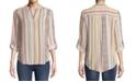 JPR Split-Neck Striped Top