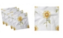"Ambesonne Sunflower Set of 4 Napkins, 12"" x 12"""
