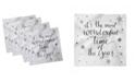 """Ambesonne Christmas Theme Set of 4 Napkins, 12"""" x 12"""""""