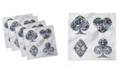"Ambesonne Diamond Set of 4 Napkins, 12"" x 12"""