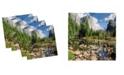 "Ambesonne Yosemite Set of 4 Napkins, 12"" x 12"""